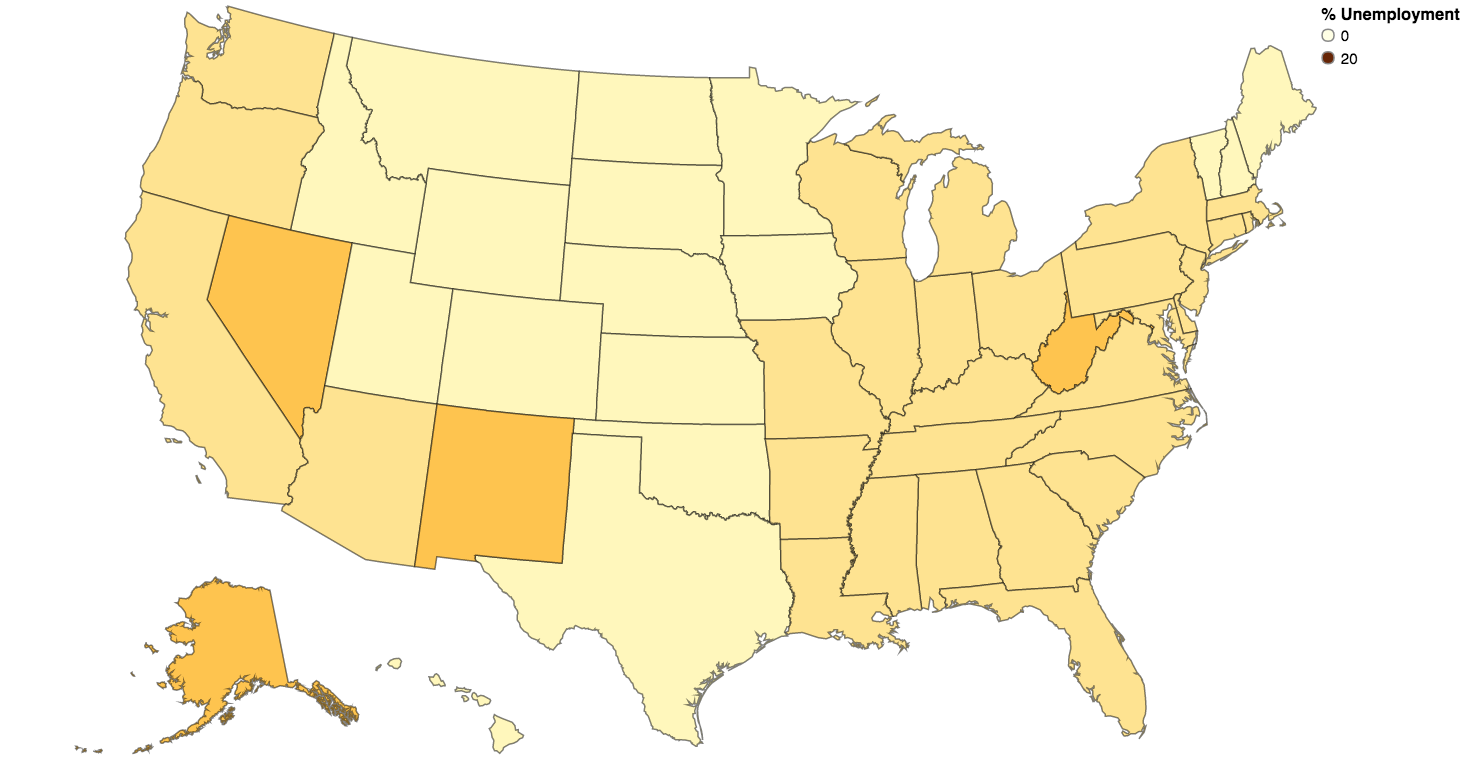 2014 Unemployment Rate by State